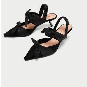 Zara Bow Kitten Heel Sz 38